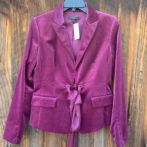 Ann Taylor purple velvet blazer jacket